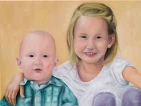 Mary's kids - Ölmalerei von Bernd Eppler - eppart.de