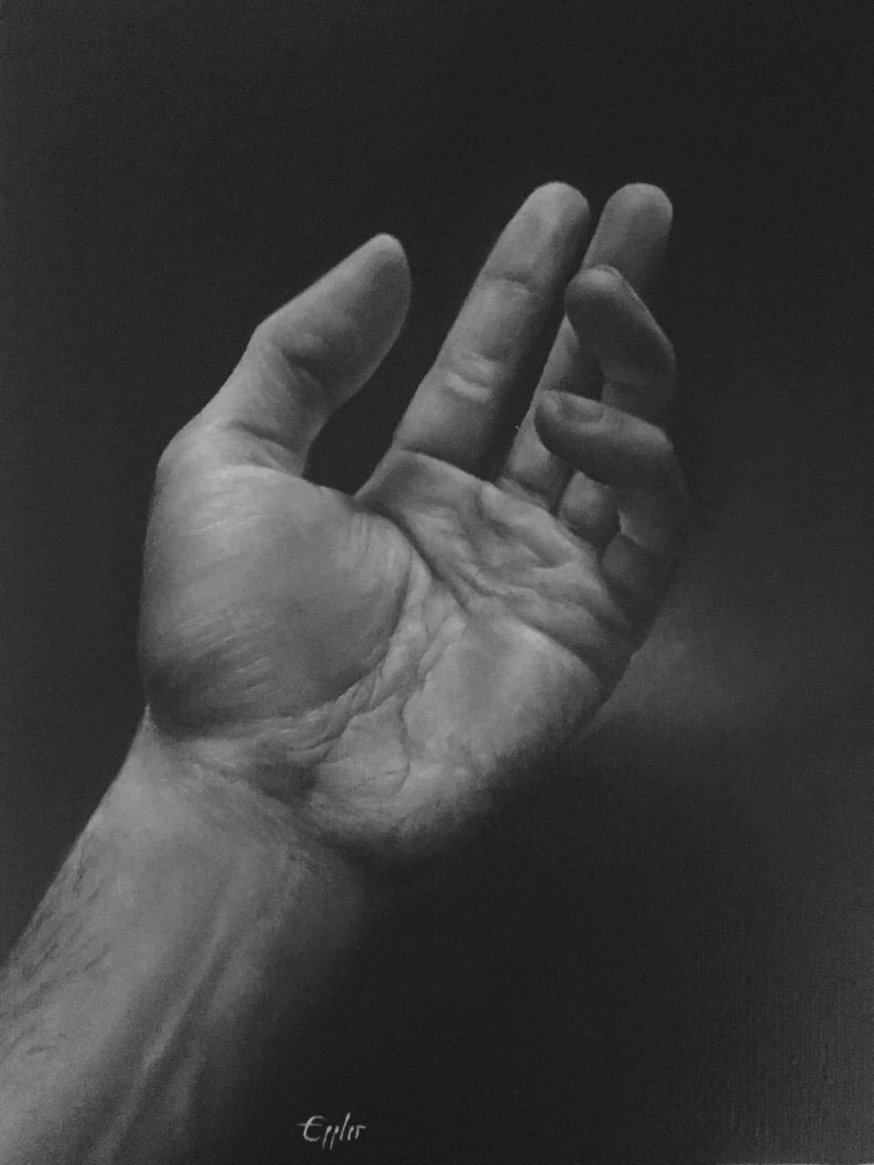 Bernd Eppler: Hand, Öl auf Leinwand