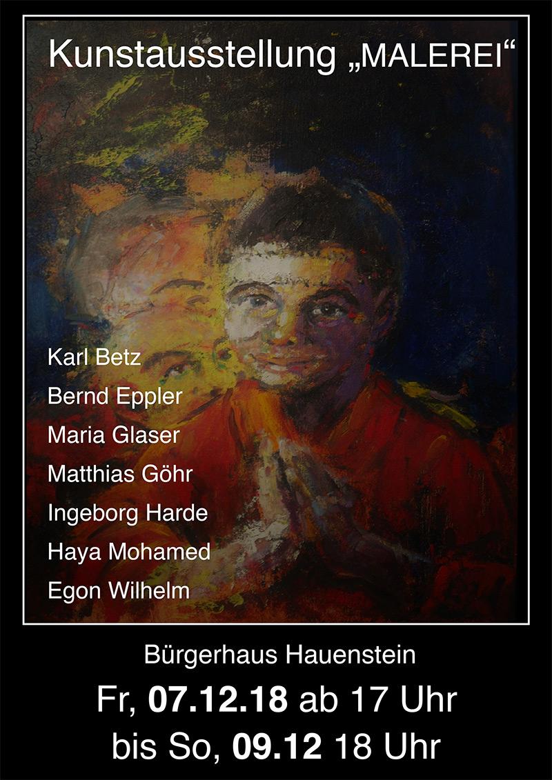 Kunstausstellung, Bernd Eppler, Hauenstein, abstrakte Kunst, Ölmalerei, Acrylmalerei, Weihnachtsmarkt